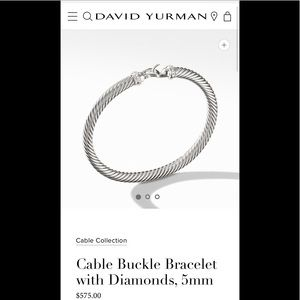 David Yurman - cable bracelet with diamonds